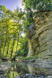 Cliff over a creek Royalty Free Stock Images