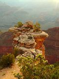 Cliff over Grand Canyon. Sunrise over Grand Canyon, gorgeous spot royalty free stock images