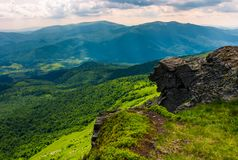 Cliff over the hill in high mountains. Beautiful summer landscape and travel concept Stock Image