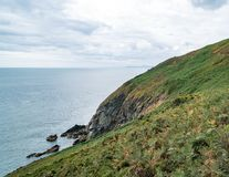 Cliff Overlook at Howth in Dublin stock photo
