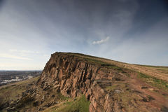 Cliff overlooking Edinburgh Stock Photography