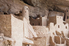 Cliff Palace ancient puebloan village of houses and dwellings in Mesa Verde National Park New Mexico USA Stock Photography