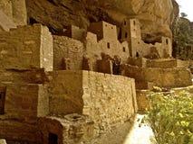 Cliff Palace fördärvar på Mesa Verde Arkivfoton