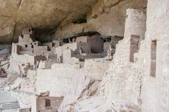Cliff Palace forntida puebloan by av hus och boningar i Mesa Verde National Park New Mexico USA Arkivbilder