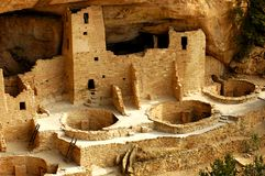 Cliff Palace Kivas. Architectural detail of section of Cliff Palace at Mesa Verde National Park Stock Photos
