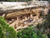 Cliff Palace, Mesa Verde National Park. Mesa Verde, Spanish for green table, offers a spectacular look into the lives of the Ancestral Pueblo people who made it Stock Images