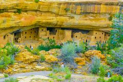 Cliff Palace Mesa Verde National-Park Arizona Stockfotografie