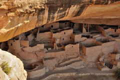 Cliff palace in Mesa Verde National Park. Colorado, USA Royalty Free Stock Photo