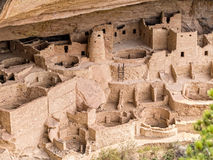 Cliff Palace Ruins, Mesa Verde Royalty Free Stock Photography