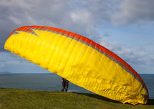 Cliff of a paragliding Royalty Free Stock Photography