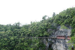 Cliff Path in Tianmen Shan Stock Photography
