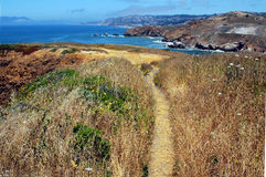 Cliff Pathway. California Coast stock photography