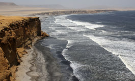 Cliff in peru. The cliff in the coast of peru Royalty Free Stock Image