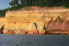 Cliff at Pictured Rocks National Lakeshore Royalty Free Stock Images
