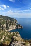 Cliff in Portofino Natural park Stock Photo