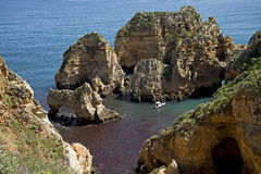 Cliff in Portugal Royalty Free Stock Images