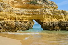 Cliff in praia da Rocha, Algarve, Portugal Stock Photography