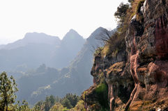 The cliff. In QiYun Mountain,china.QiYun Mountain is the four Avenue Chinese Taoism mountains Stock Images