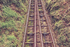 Cliff rail on a hill Royalty Free Stock Images