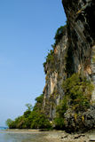 Cliff at Railay beach Stock Image