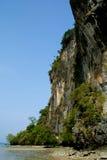 Cliff at Railay beach Stock Image
