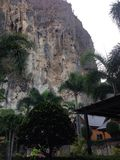 Cliff at the Railay in Krabi Thailand. Amazing beach in Krabi in Thailand forever on vacation Stock Photos