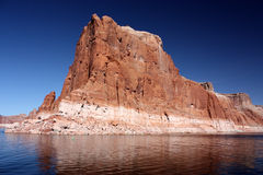 Cliff with reflection, Lake Powell, Arizona Royalty Free Stock Photo