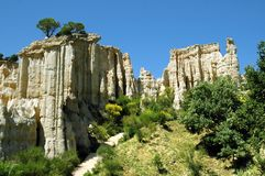 Cliff region Roussillon in France Stock Photography