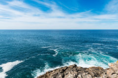 Cliff in the Rias Baixas, Galicia Royalty Free Stock Images