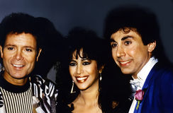 Cliff Richard, Ofra Haza, and Dino Karsonakis Royalty Free Stock Photos