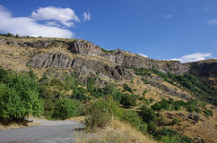 Cliff in river Arpa gorge. Road to Jermuk Stock Photo