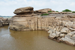 Cliff Rock. The cliff is made from water power. It will appear when level of water is down Royalty Free Stock Image