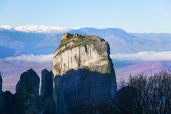 Cliff rock in Meteora, Greece Royalty Free Stock Photos