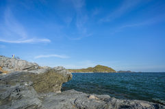 Cliff rock. At Sichang island,Thailand Stock Photography