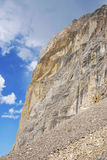 Cliff and rock slide stock photos