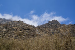 Cliff rock. Between the way to base camp Royalty Free Stock Images