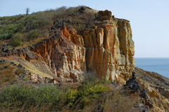 The cliff. Rocky cliff photographed in west Africa stock image