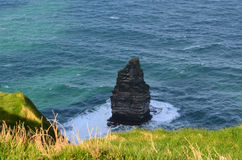 Cliff`s of Moher Needle Rock Formation in Ireland Royalty Free Stock Photos
