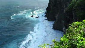 Cliff's in Uluwatu temple area on Bali, Indonesia. Beautiful view on cliffs near Uluwatu temple on Bali, Indonesia stock footage