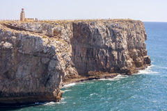Cliff of Sagres Royalty Free Stock Photos