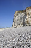Cliff and the scree rock. Cliff and the sea coast, landscape of cliff and beach Stock Images
