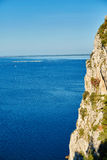 Cliff on the sea landscape Stock Images