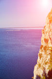 Cliff on the sea landscape Royalty Free Stock Photography