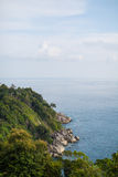 Cliff and sea ocean in Thailand Stock Photography