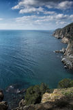 Cliff and sea in Tossa de Mar Royalty Free Stock Photo