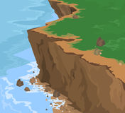 Cliff and seascape. Illustration cliff and seascape nature background Royalty Free Stock Photo