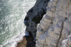 Cliff by seaside Stock Image