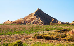 Cliff at semi-desert landscape Royalty Free Stock Image