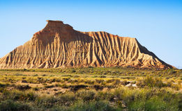 Cliff at semi-desert landscape of Navarra Royalty Free Stock Photography