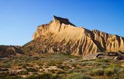 Cliff at semi-desert landscape Stock Photos